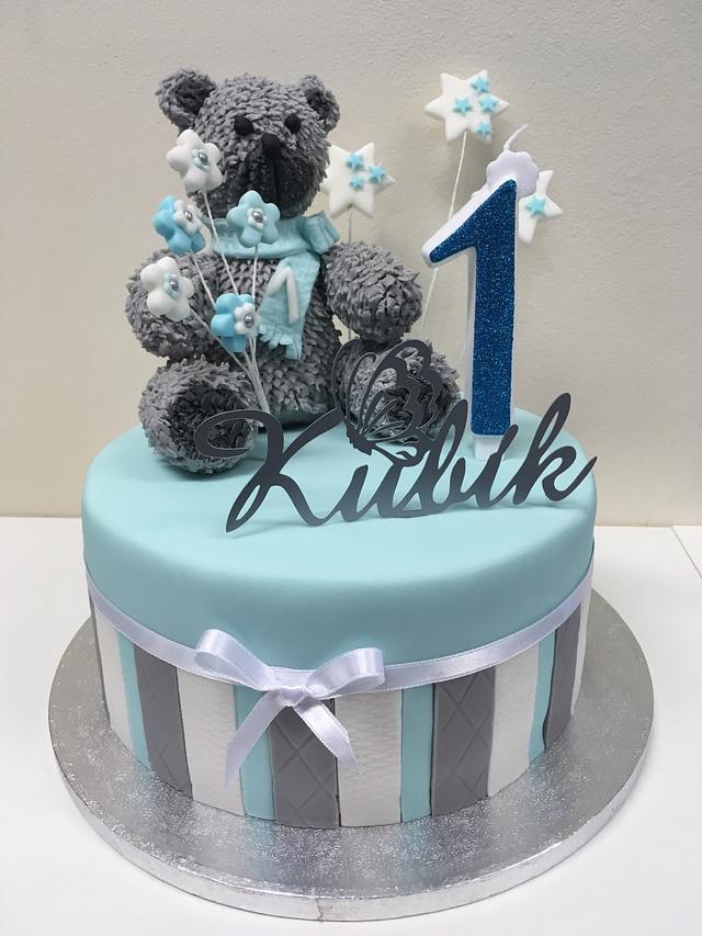 Astounding 1St Birthday Cake For Babyboy Kubik Cake By Renatiny Cakesdecor Funny Birthday Cards Online Alyptdamsfinfo
