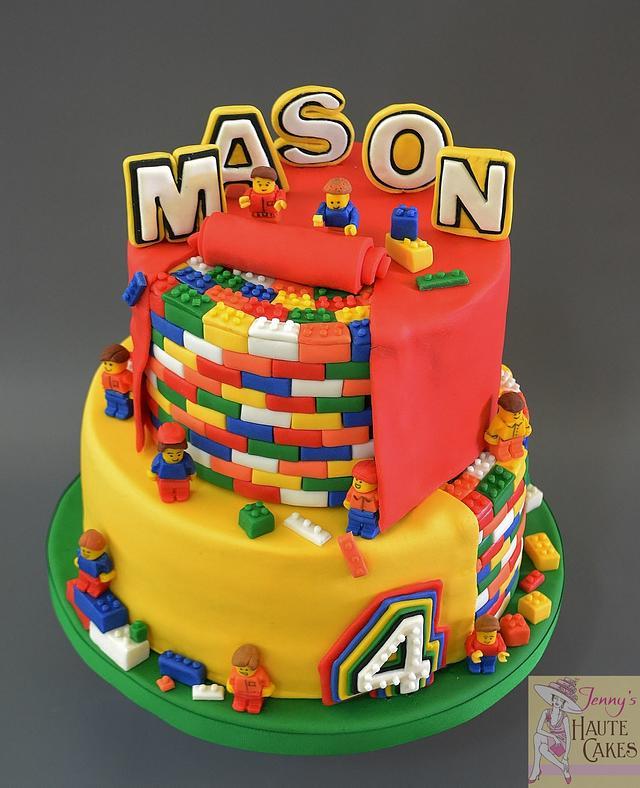 Super Lego Birthday Cake Cake By Jenny Kennedy Jennys Haute Cakesdecor Personalised Birthday Cards Veneteletsinfo