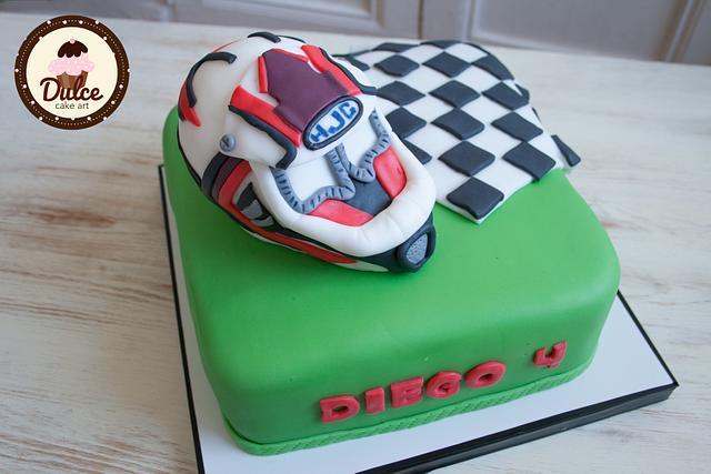 Phenomenal Motocross Cake Cake By Dulce Cake Art Cakesdecor Birthday Cards Printable Trancafe Filternl
