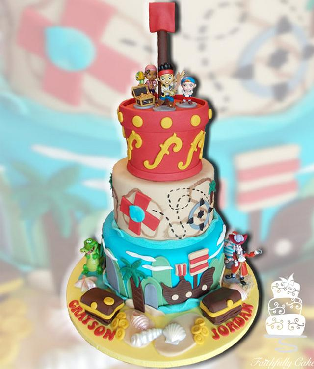 Pleasant Jake And The Neverland Pirates Birthday Cake Cake By Cakesdecor Funny Birthday Cards Online Inifodamsfinfo