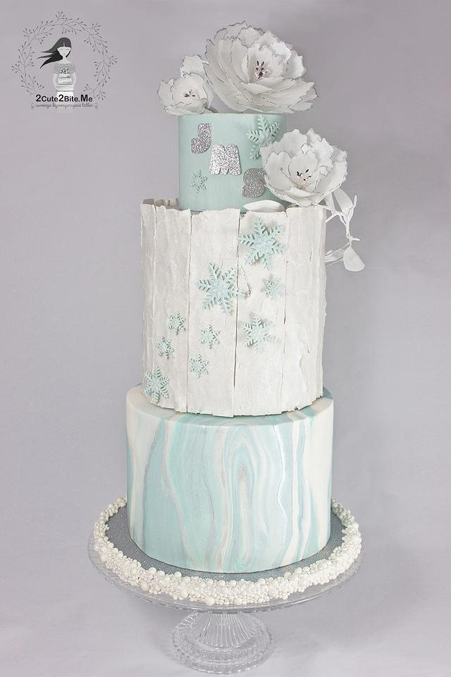 A Winter Tale Wedding Cake