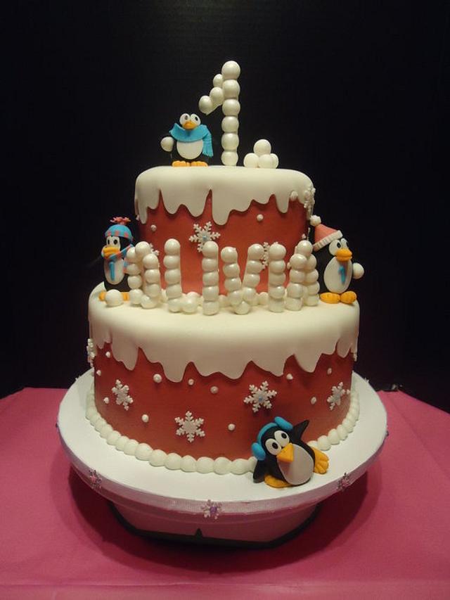 Olivia's Winter ONEderland cake