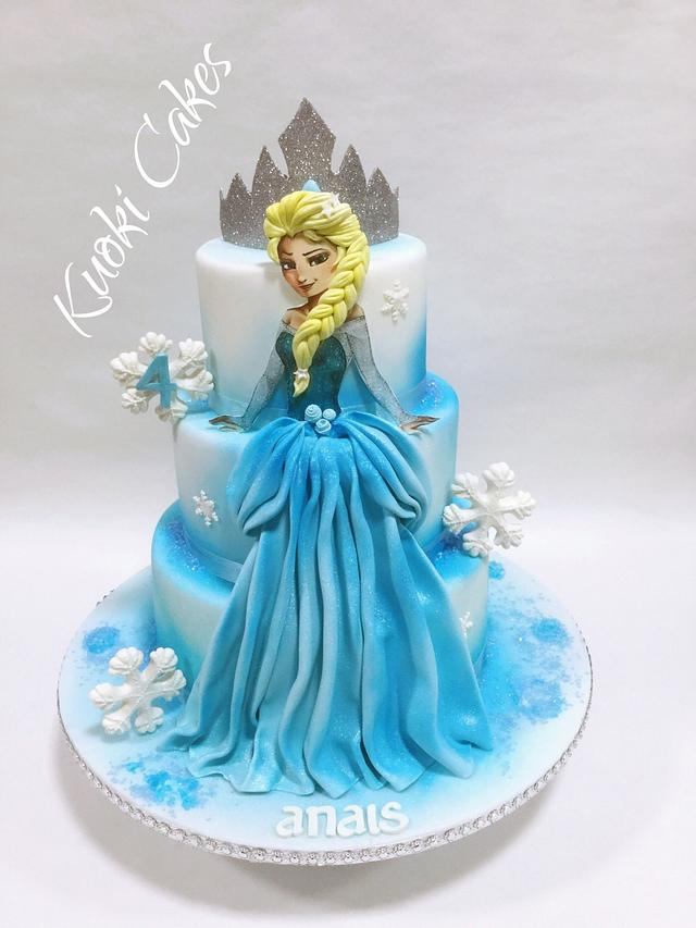 Swell Elsa Birthday Cake Cake By Donatella Bussacchetti Cakesdecor Funny Birthday Cards Online Overcheapnameinfo