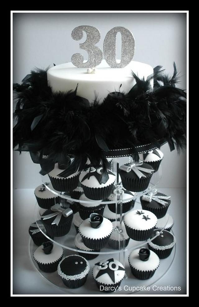 Black & White Feathers & Bling