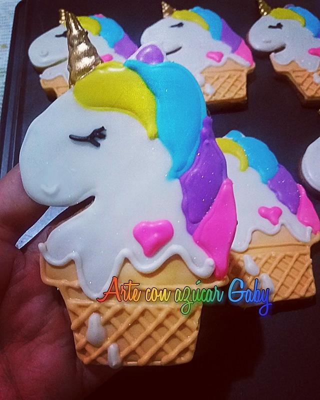 Unicorn cookies Galletas de unicornio