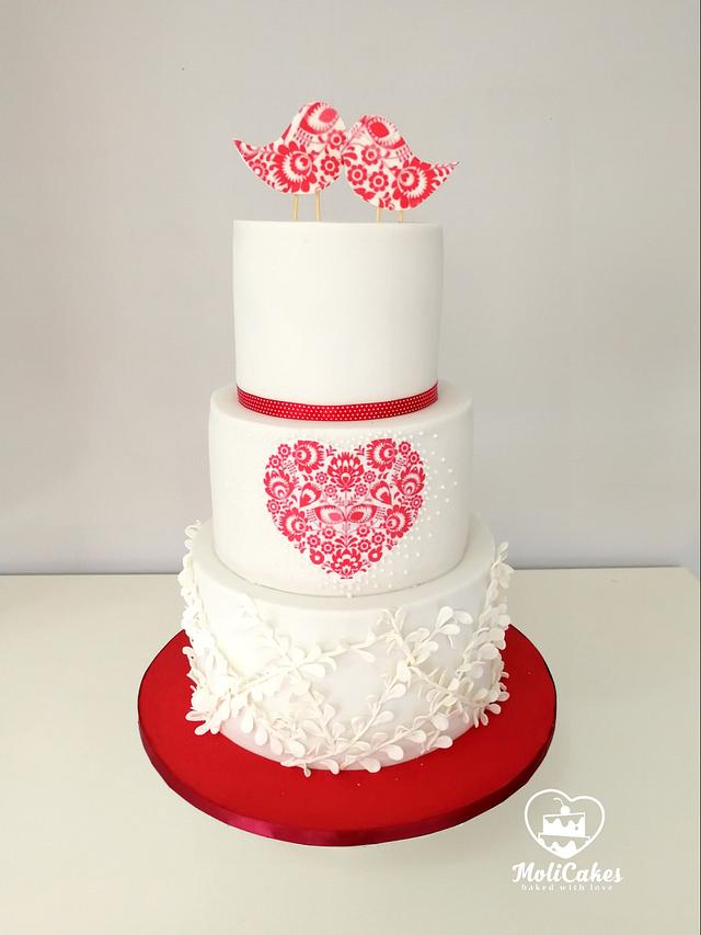 Folk wedding cake