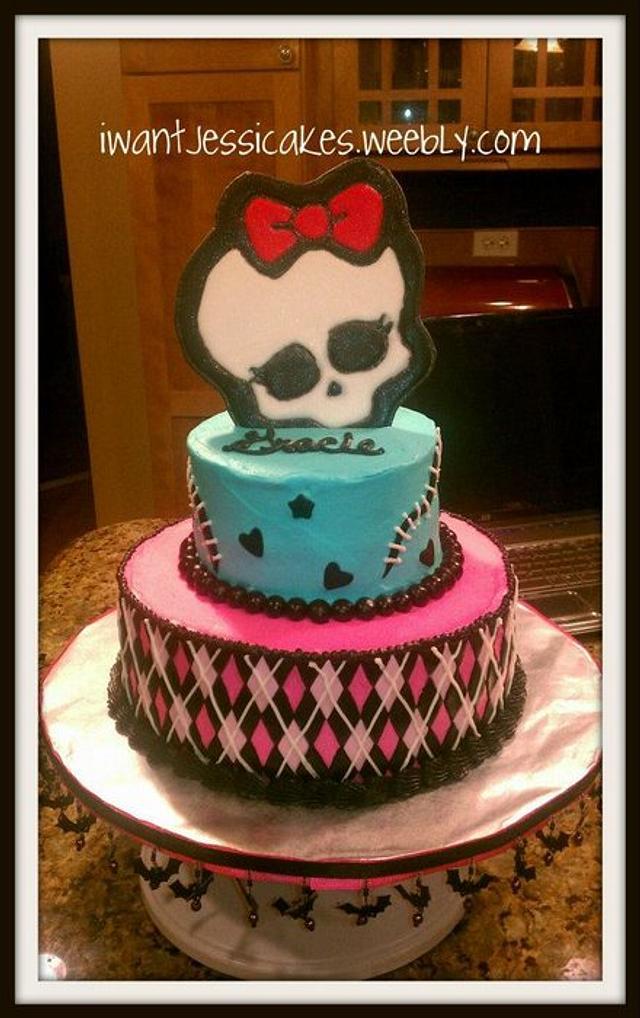 5th birthday Monster High cake