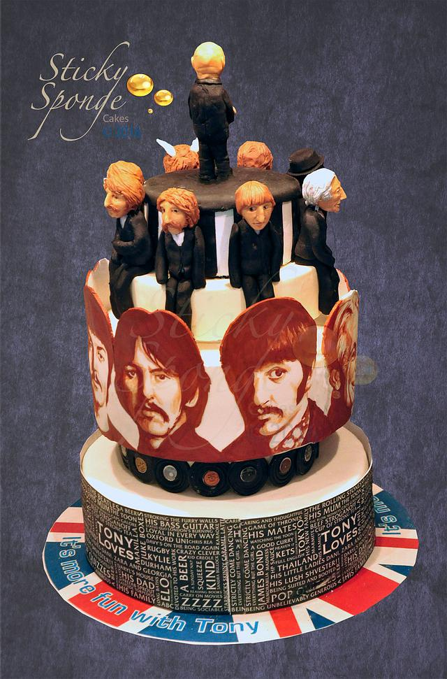Making a cake with Beatles and Stones