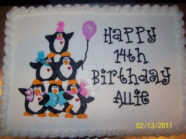 Fabulous Penguin Birthday Cake By Jen Cakesdecor Funny Birthday Cards Online Aeocydamsfinfo