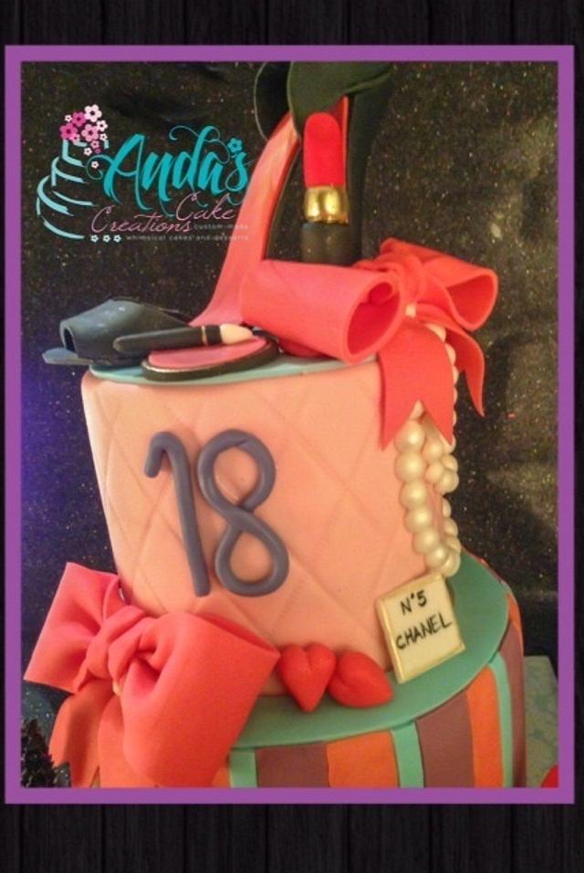18th Birthday Fashionista Cake