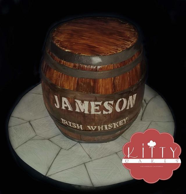 mini jameson whiskey barrel