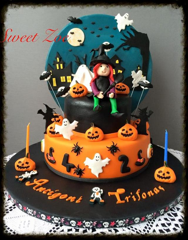 Cool Halloween Birthday Cake Cake By Dimitra Mylona Sweet Cakesdecor Funny Birthday Cards Online Barepcheapnameinfo