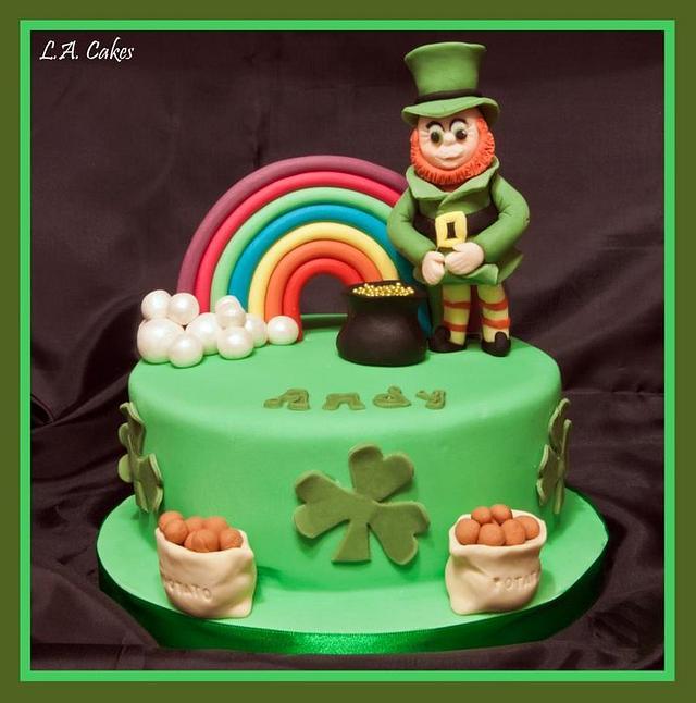 Outstanding Andys Irish Birthday Cake By Laura Young Cakesdecor Personalised Birthday Cards Veneteletsinfo