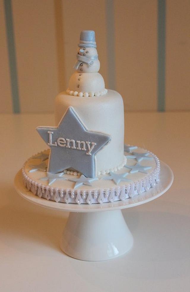 My nephew Lenny's First Christmas Cake