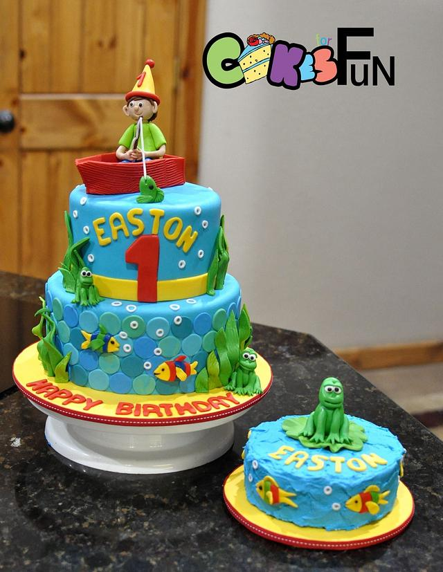Remarkable Fishing Birthday Cake Cake By Cakes For Fun Cakesdecor Personalised Birthday Cards Epsylily Jamesorg