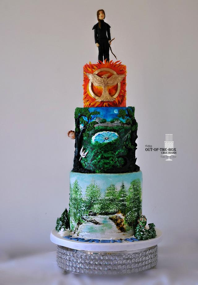 Fine Hunger Games Cake By Bobie Mt Cakesdecor Funny Birthday Cards Online Elaedamsfinfo