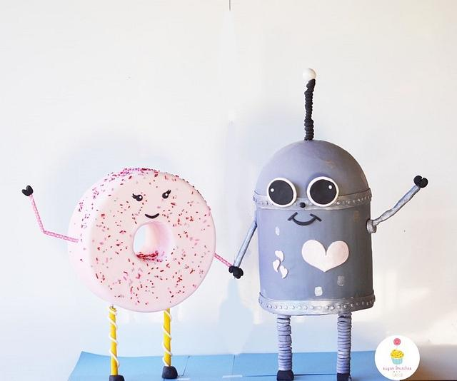 A donut and a robot fell in love!