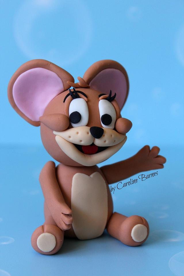 Tom and Jerry fondant cake topper