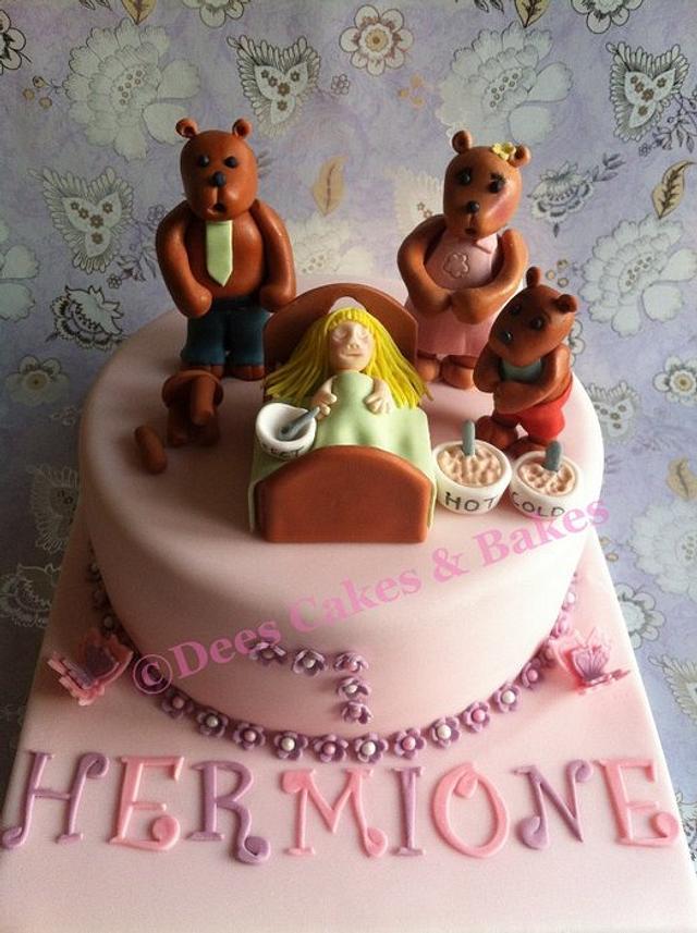 Pleasing Goldilocks The 3 Bears Cake By Dee99Dee Cakesdecor Funny Birthday Cards Online Alyptdamsfinfo