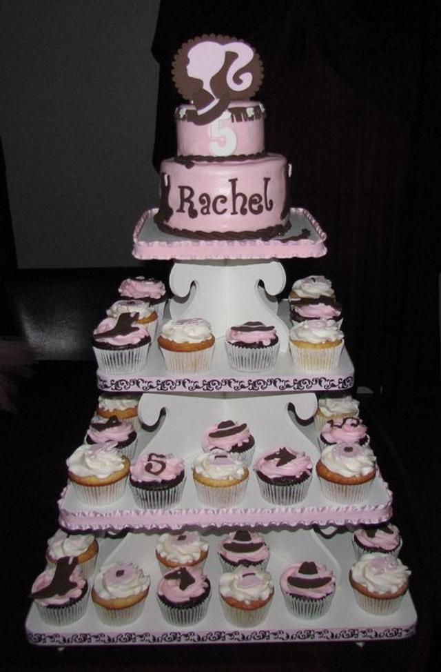 Barbie Cowgirl Cupcake Tower