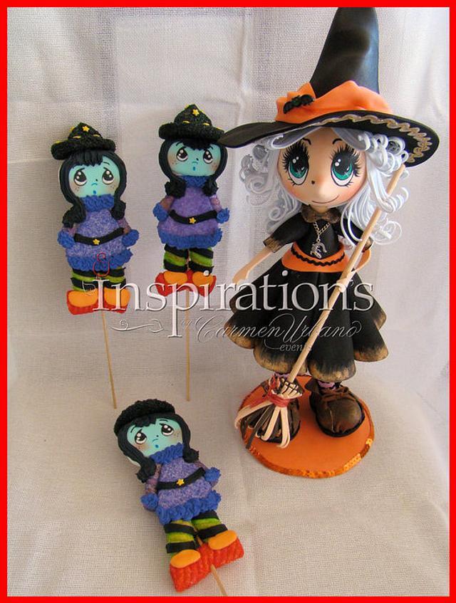 Halloween 2013 Marshmallow lollipops