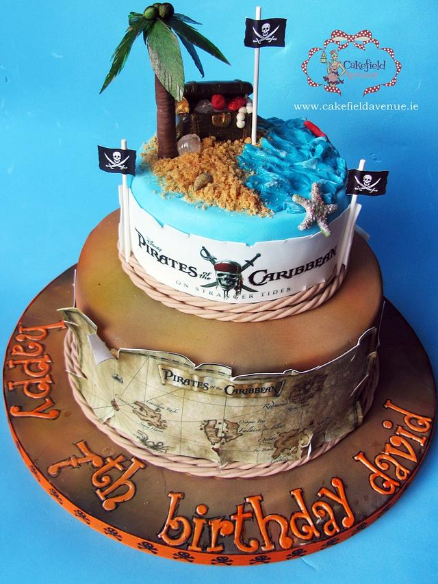 Wondrous Pirates Of Caribbean Cake Cake By Agatha Rogowska Cakesdecor Funny Birthday Cards Online Aeocydamsfinfo