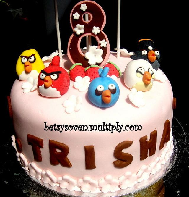 Angry Birds Cake for 8 Year Old Trisha