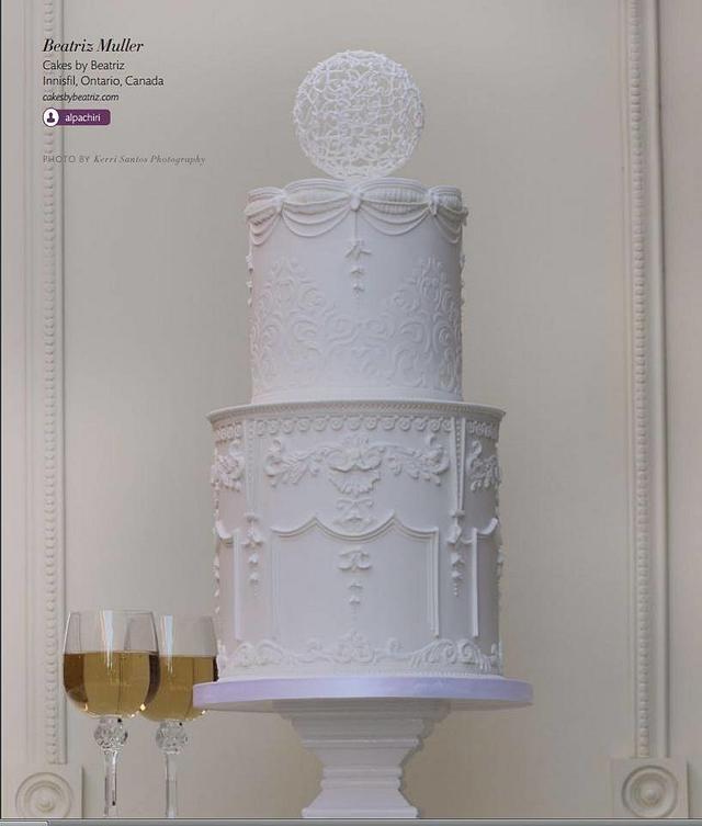 Bernini's Louis XIV inspired cake
