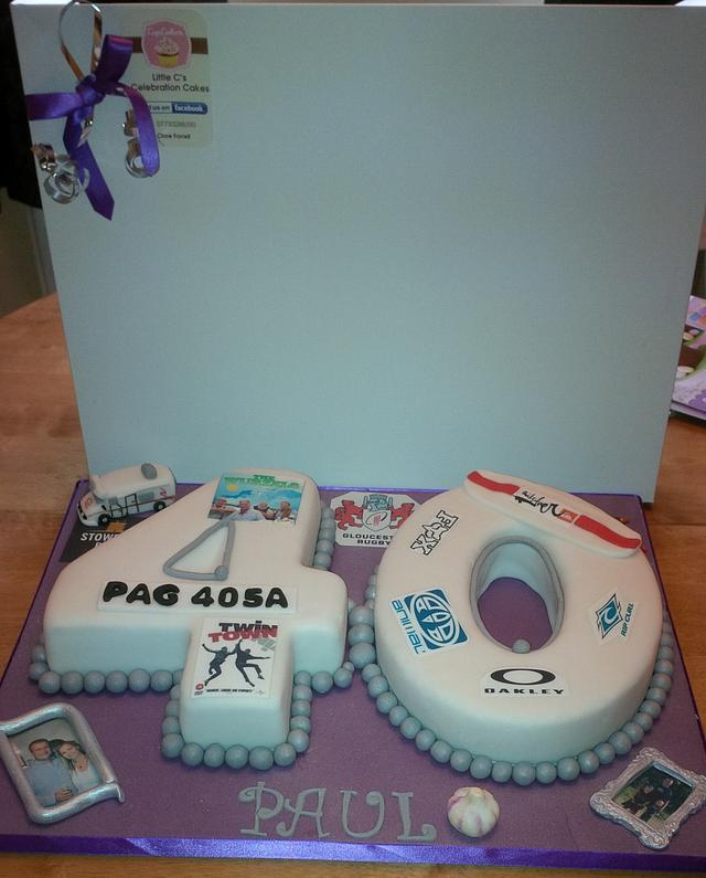 Cool 40Th Birthday Cake For A Man Cake By Little Cs Cakesdecor Personalised Birthday Cards Paralily Jamesorg
