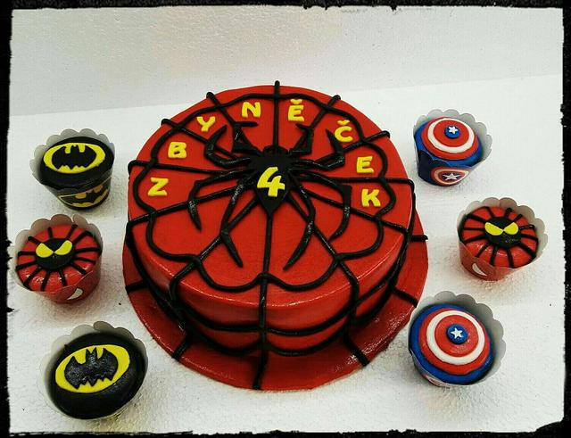 Spiderman and the superheros cupcakes