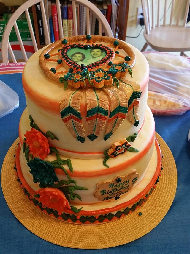 """Dream Catcher"" Birthday Cake"
