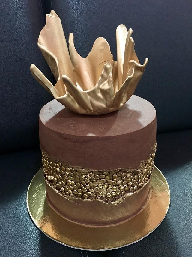 Ganache Fault Line Cake