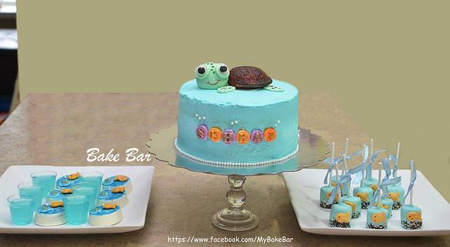 Baby Squirt The Tortoise Cake Cake By Pratyusha Cakesdecor