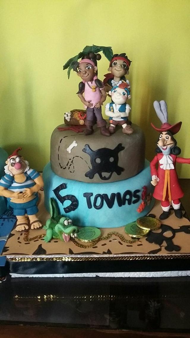 """torta""""jake y los piratas"""""""