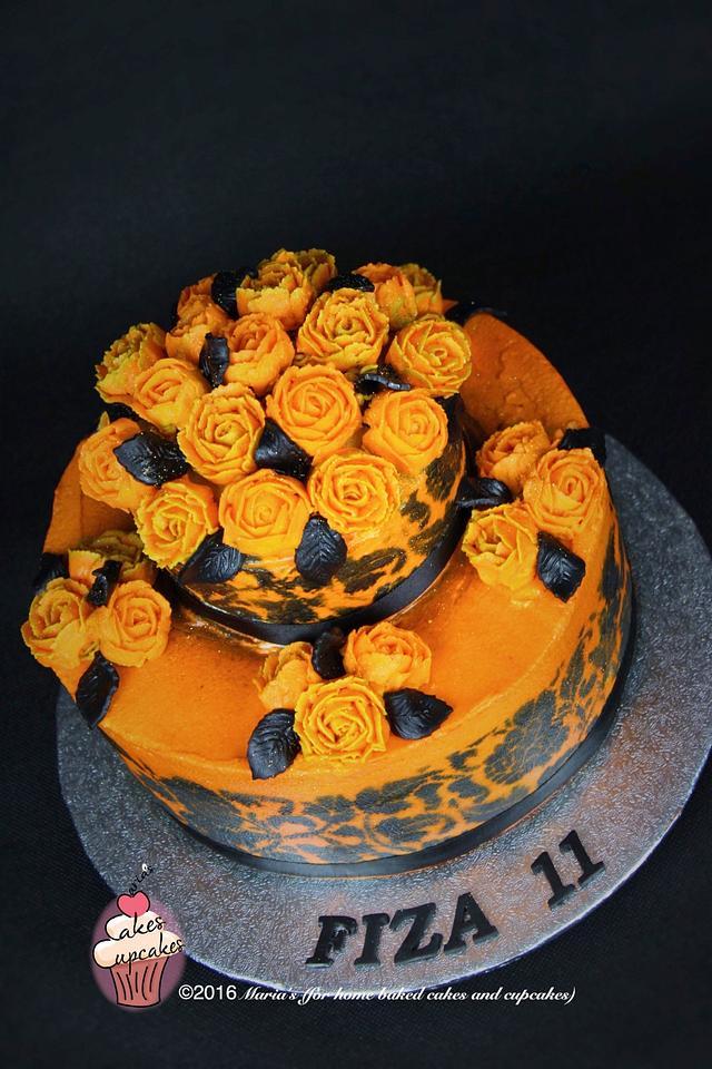 Marvelous Halloween Birthday Cake Cake By Marias Cakesdecor Funny Birthday Cards Online Alyptdamsfinfo