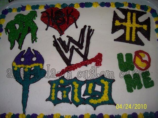 WWE Superstars cake