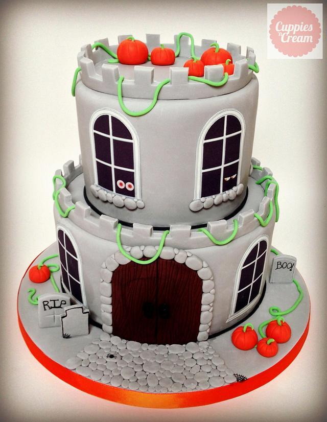 Spooky Halloween Castle Cake for Iggy's 5th Birthday