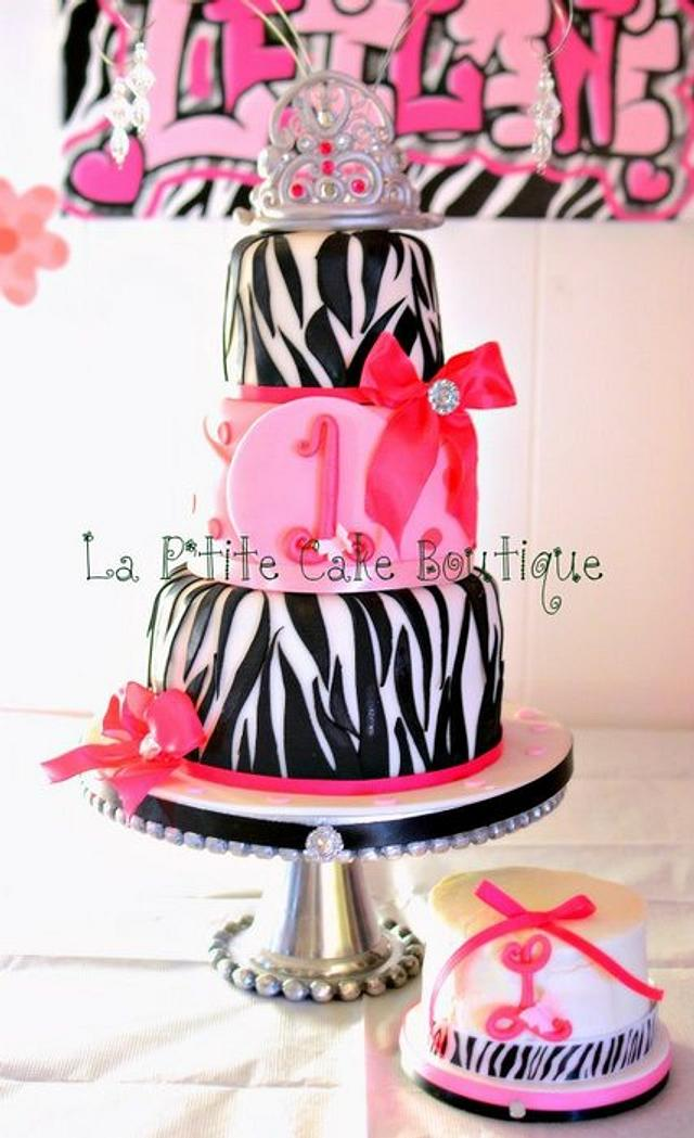 Pretty in Pink Zebra Cake