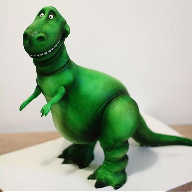 Toy Story Rex Dinosaur cake