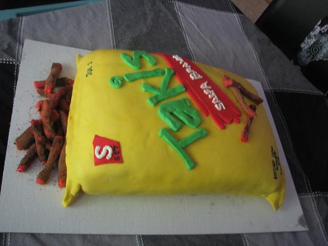 Bag of chips cake