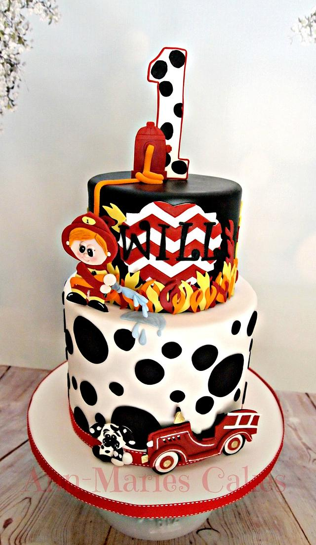 Terrific Wills Fireman Birthday Cake By Ann Marie Youngblood Cakesdecor Funny Birthday Cards Online Alyptdamsfinfo