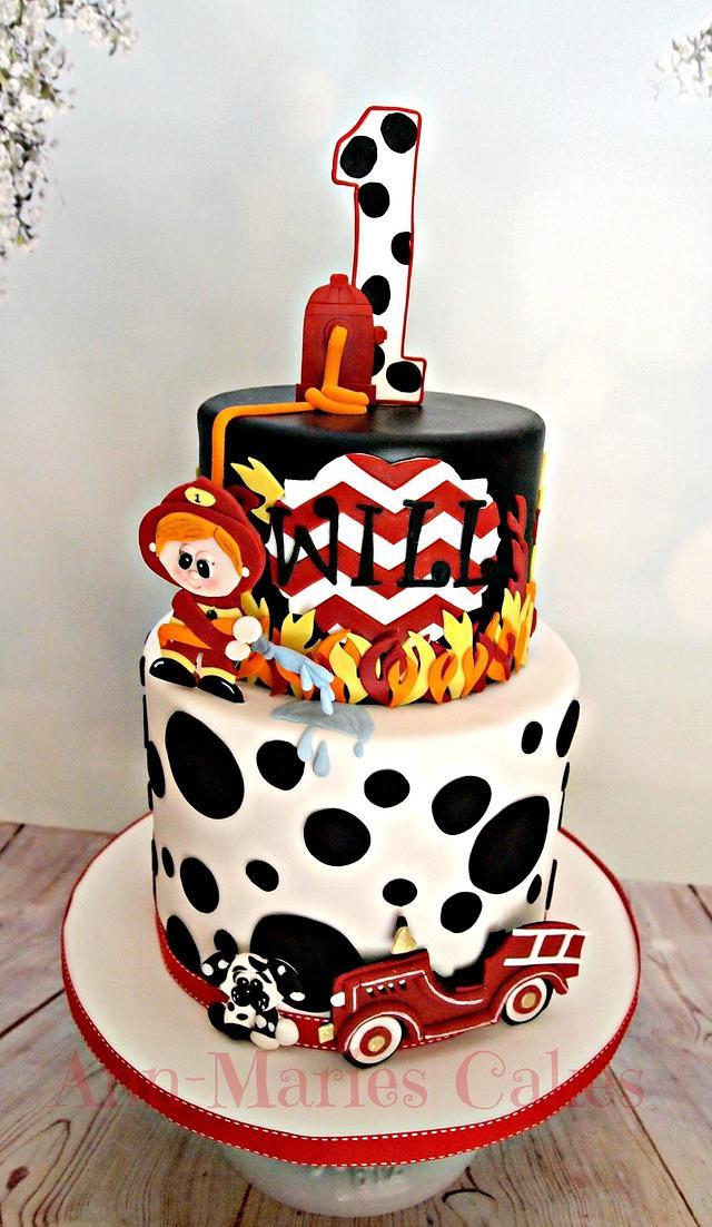 Surprising Wills Fireman Birthday Cake By Ann Marie Youngblood Cakesdecor Funny Birthday Cards Online Elaedamsfinfo