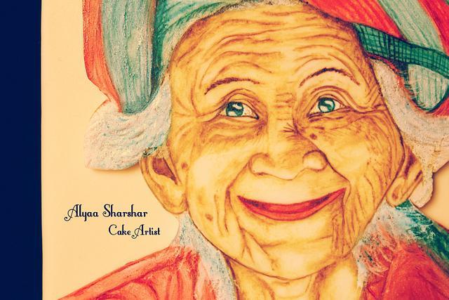 Beautiful Sri Lanka old woman