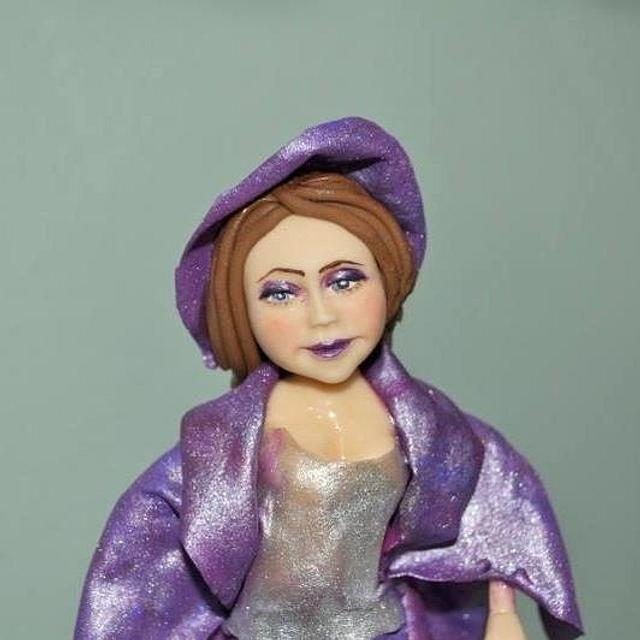 woman from sugar paste