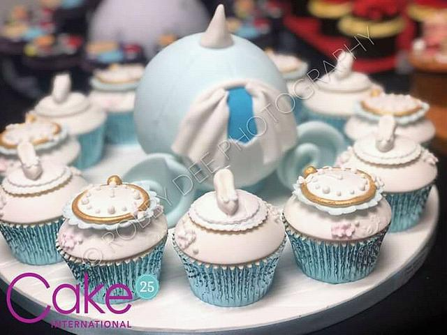 Super Cinderella Cupcakes Cake International Cake By Cakesdecor Funny Birthday Cards Online Drosicarndamsfinfo