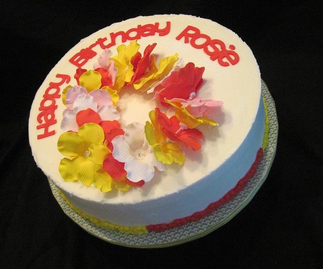 Luau Inspired Birthday Cake