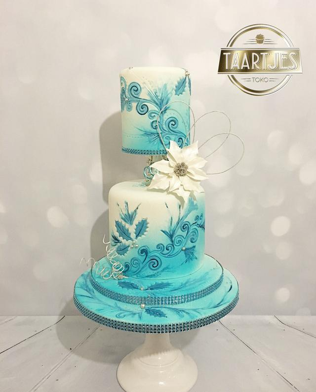 Winter wedding cake masterclass pme