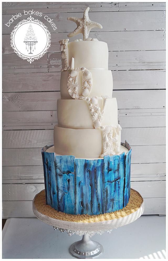 The Beach Wedding Cake