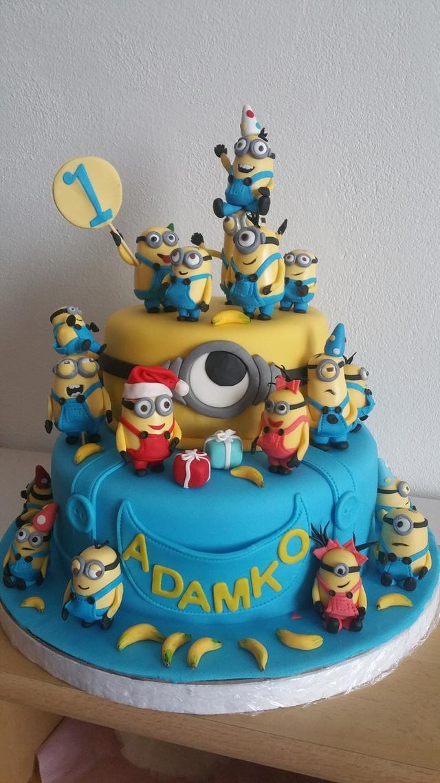 Admirable Minions Birthday Cake Cake By Helenka Cakesdecor Funny Birthday Cards Online Barepcheapnameinfo
