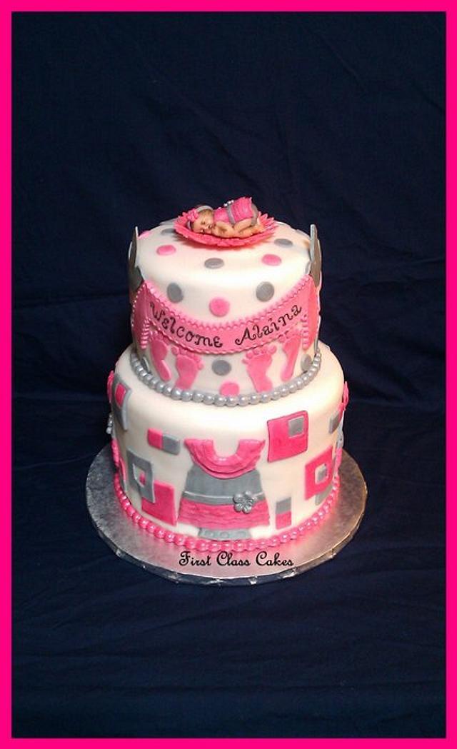 Girly Baby Shower Cake